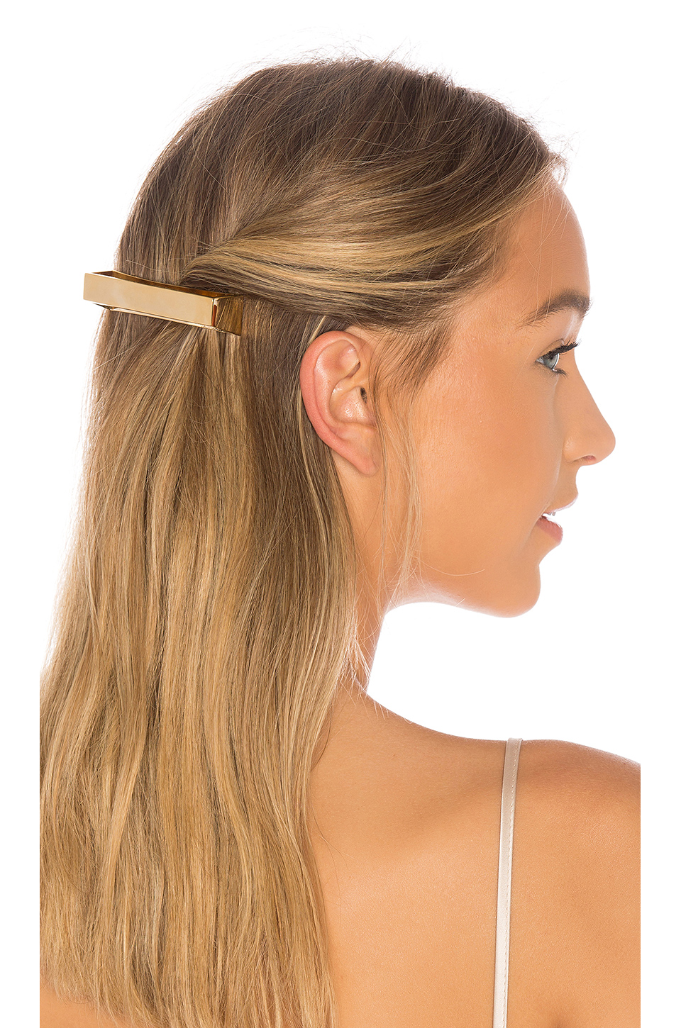 Oribe Geometric Gold Plated Metal Barrette in