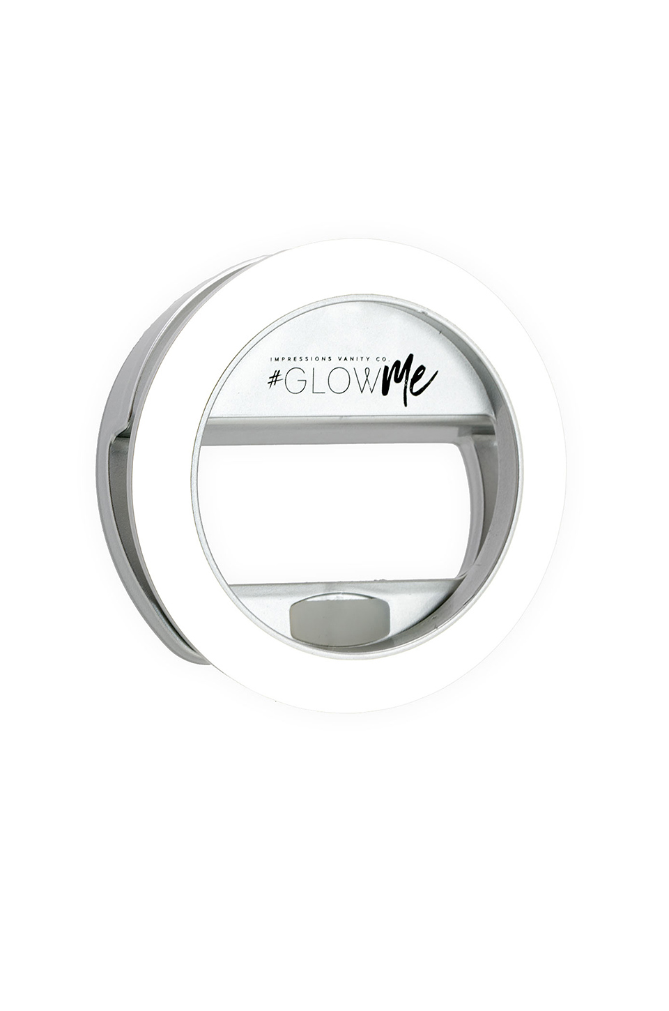 Impressions Vanity GlowMe 2.0 USB Rechargeable LED Selfie Ring Light in Shimmery Silver