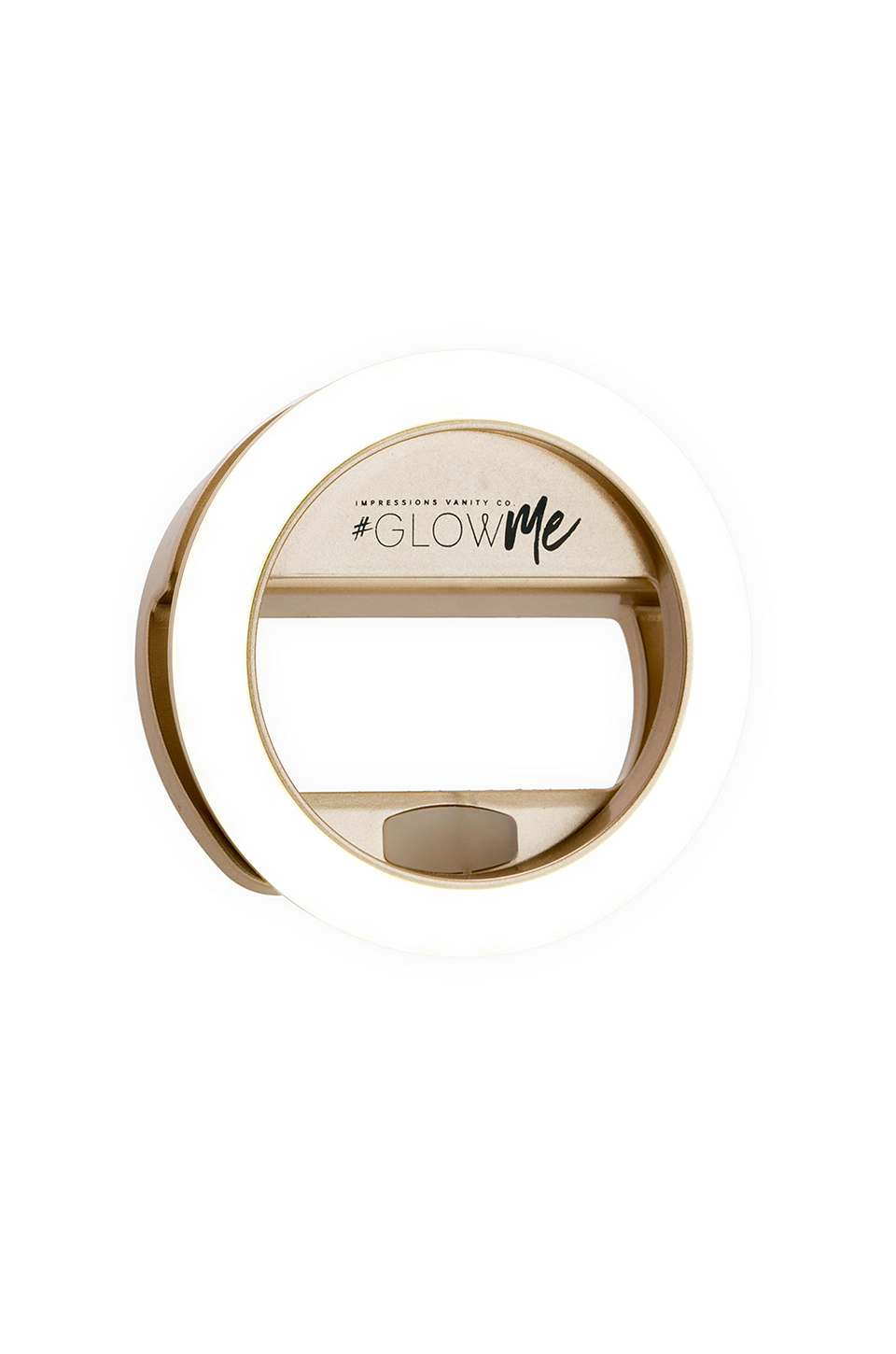 Impressions Vanity GlowMe 2.0 USB Rechargeable LED Selfie Ring Light in Champagne Gold