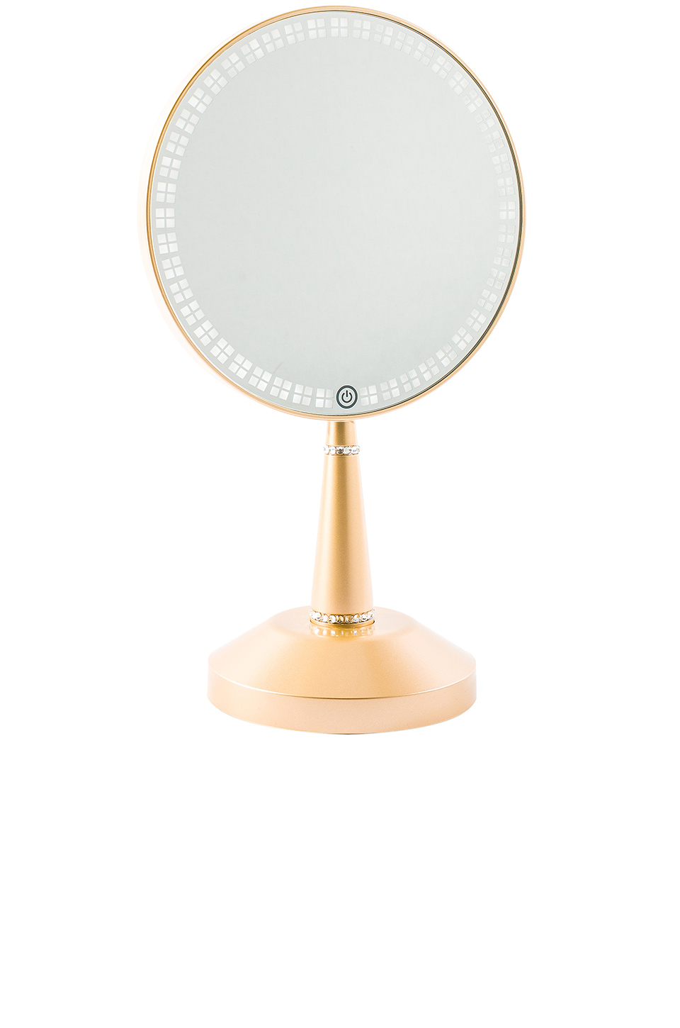 Impressions Vanity Bijou LED Hand Mirror with Charging Stand in Champagne Gold