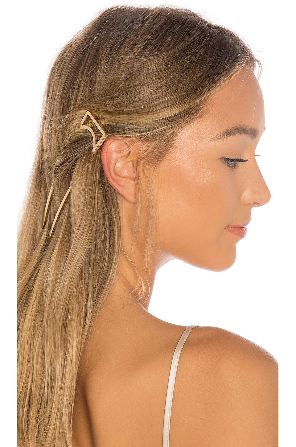 Oribe Geometric Gold Plated Metal Hair Stick in