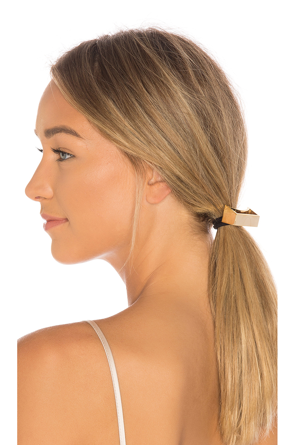 Oribe Geometric Gold Plated Metal Pony in