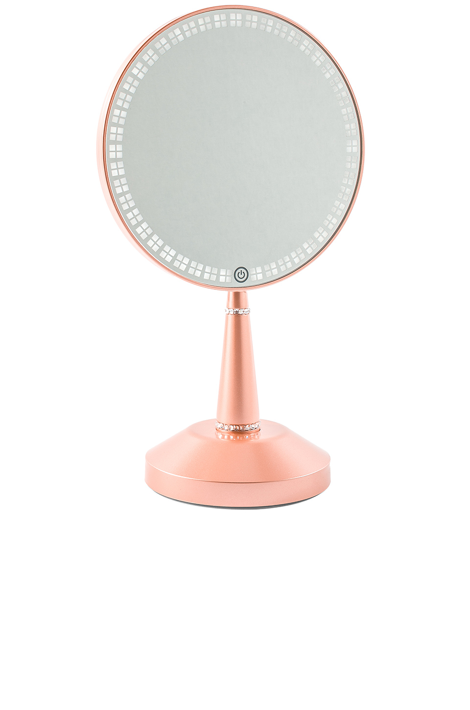 Impressions Vanity Bijou LED Hand Mirror with Charging Stand in Rose Gold