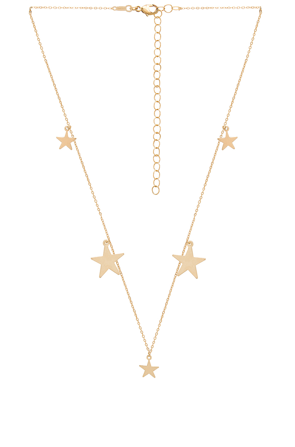 ERTH Multi Star Necklace in Gold