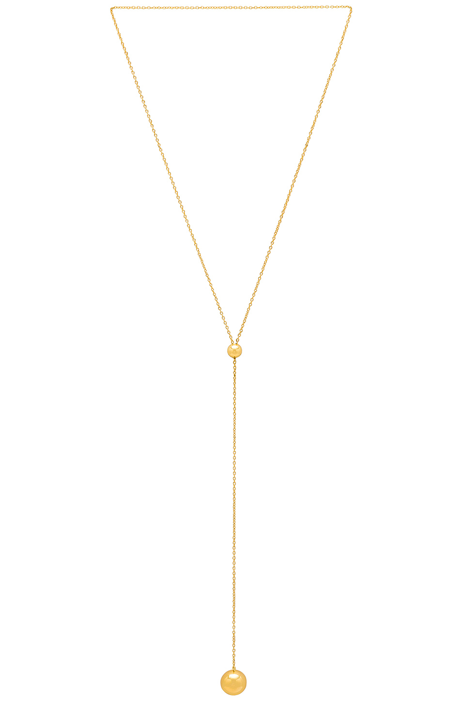 gorjana Newport Adjustable Lariat Necklace in Gold