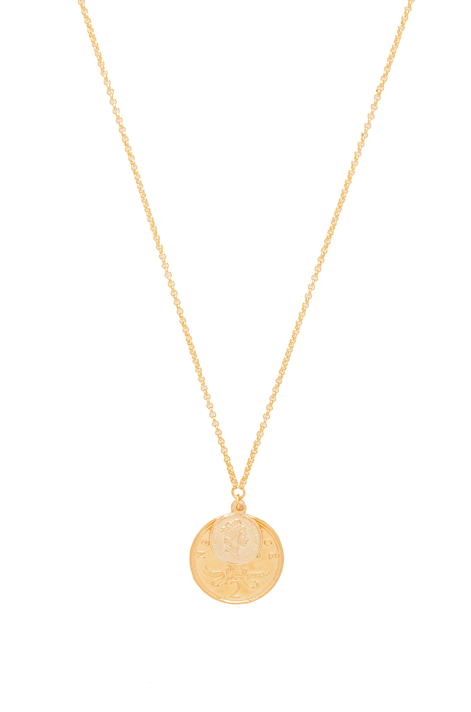 SHASHI Double Coin Necklace in Gold