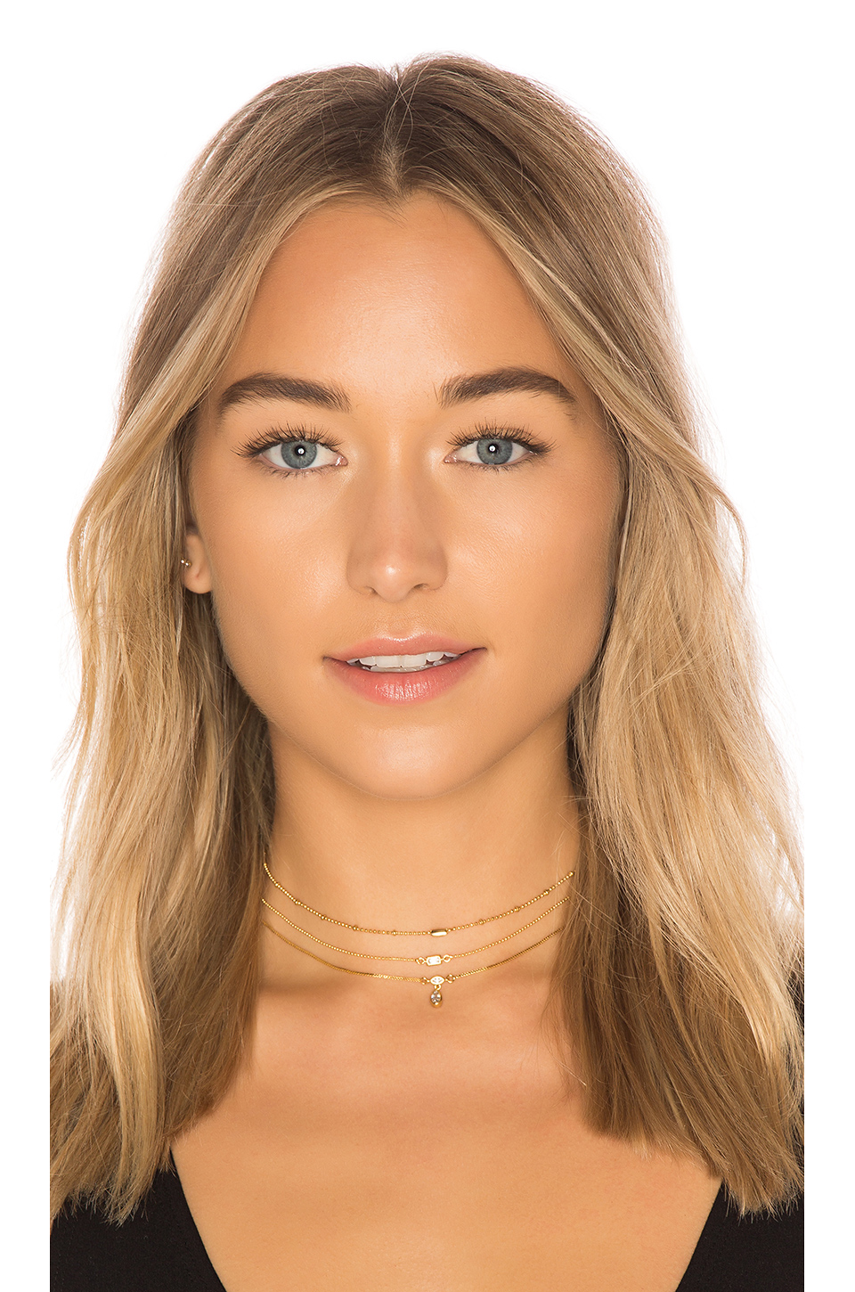 Luv AJ The Hanging Stone Choker Set in 14K Antique Gold