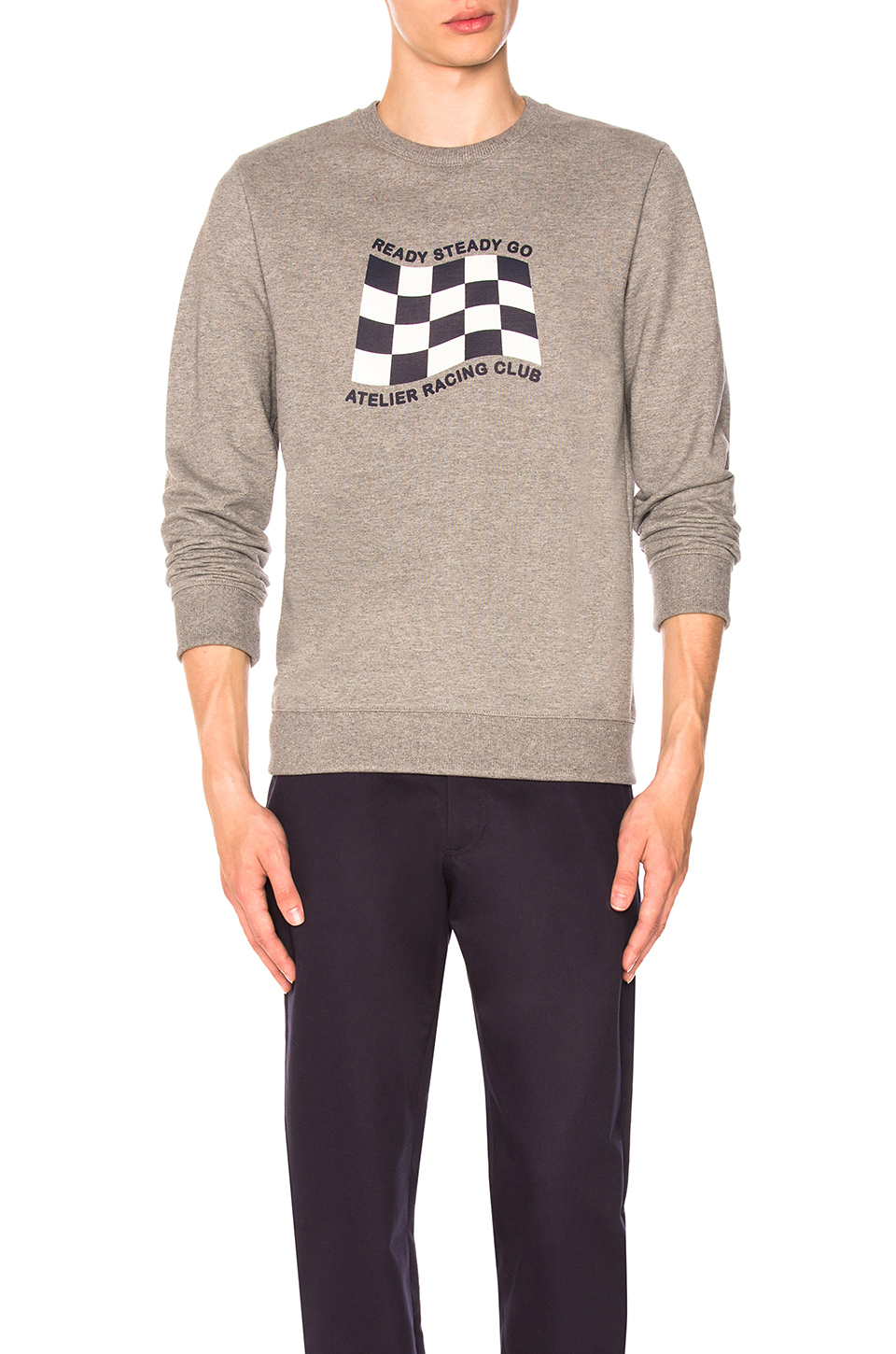 A.P.C. Racing Sweat in Gris Chine