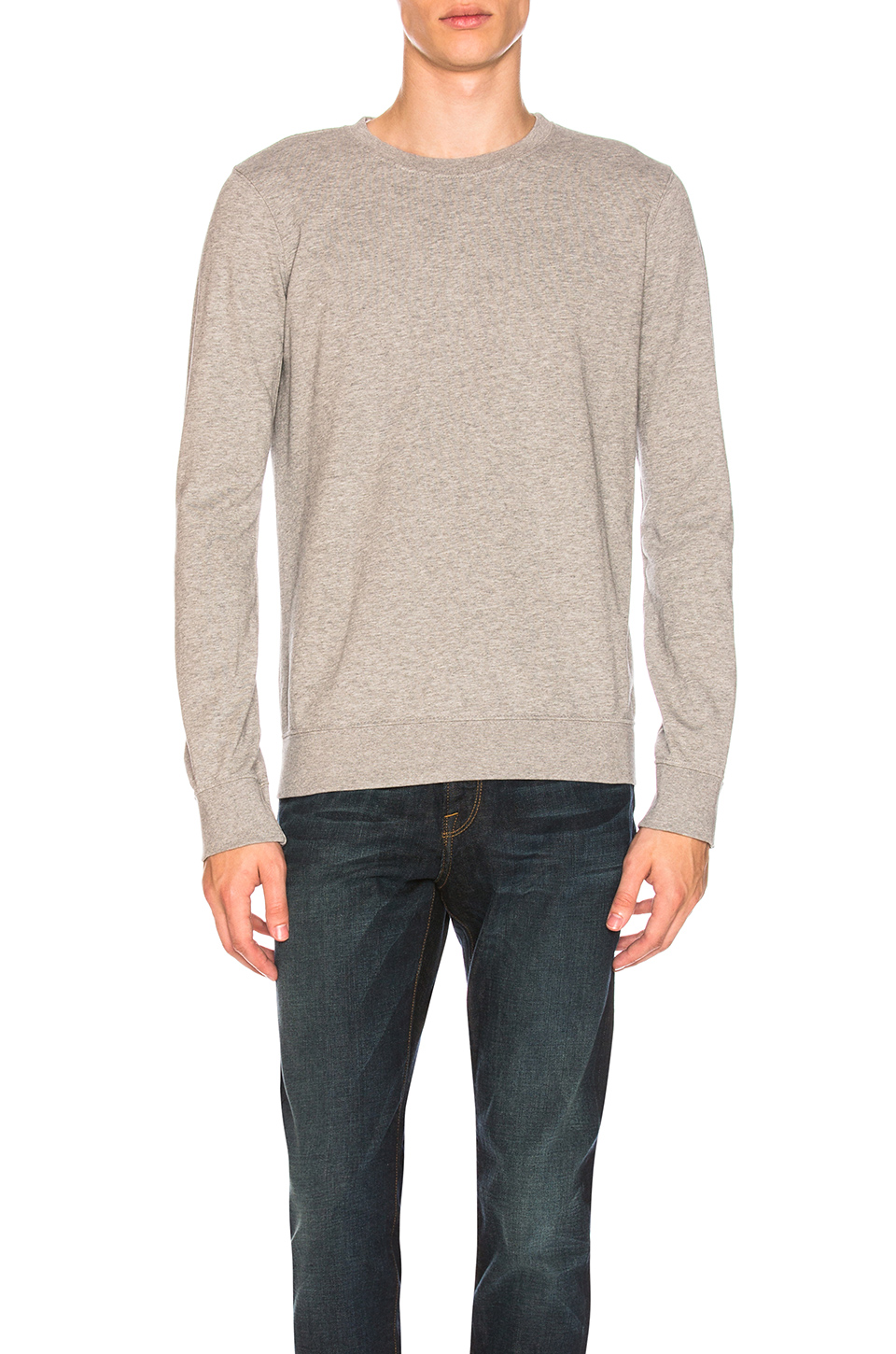 FRAME Denim French Terry Crew in Gris