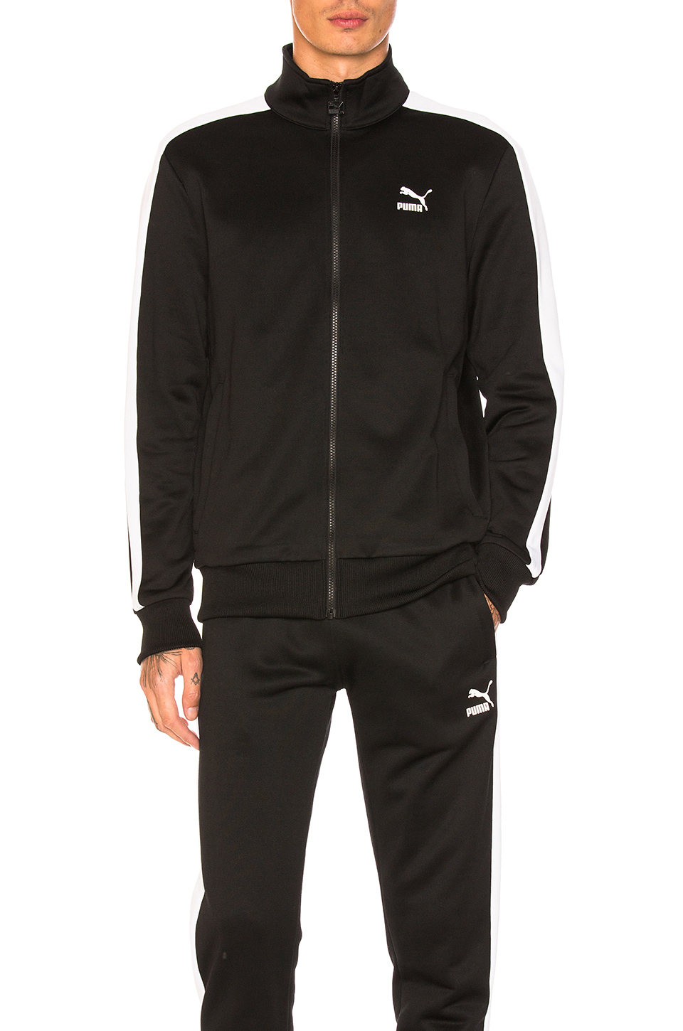 Puma Select Archive T7 Track Jacket in Puma Black