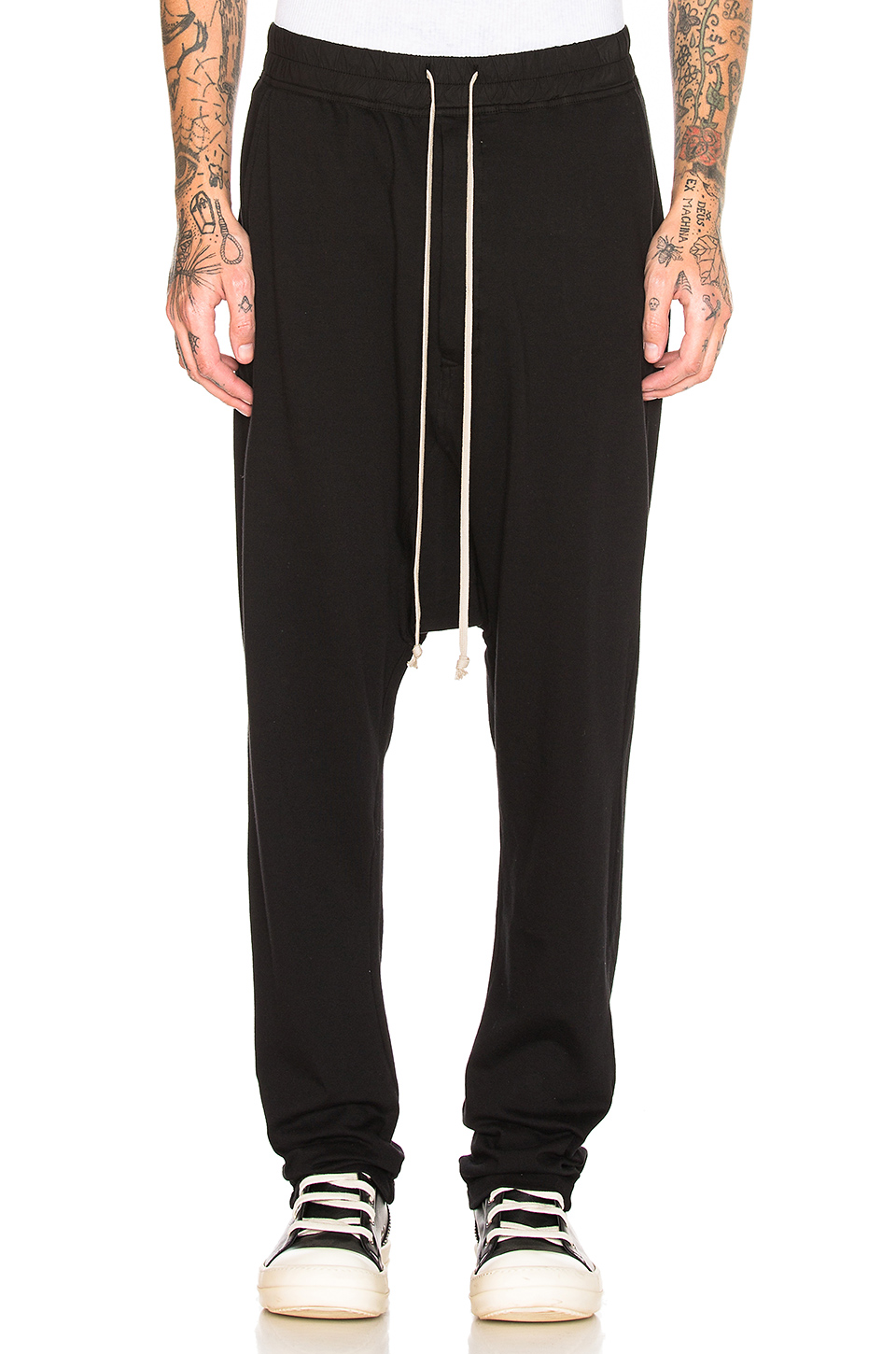 DRKSHDW by Rick Owens Drawstring Long Pant in Black