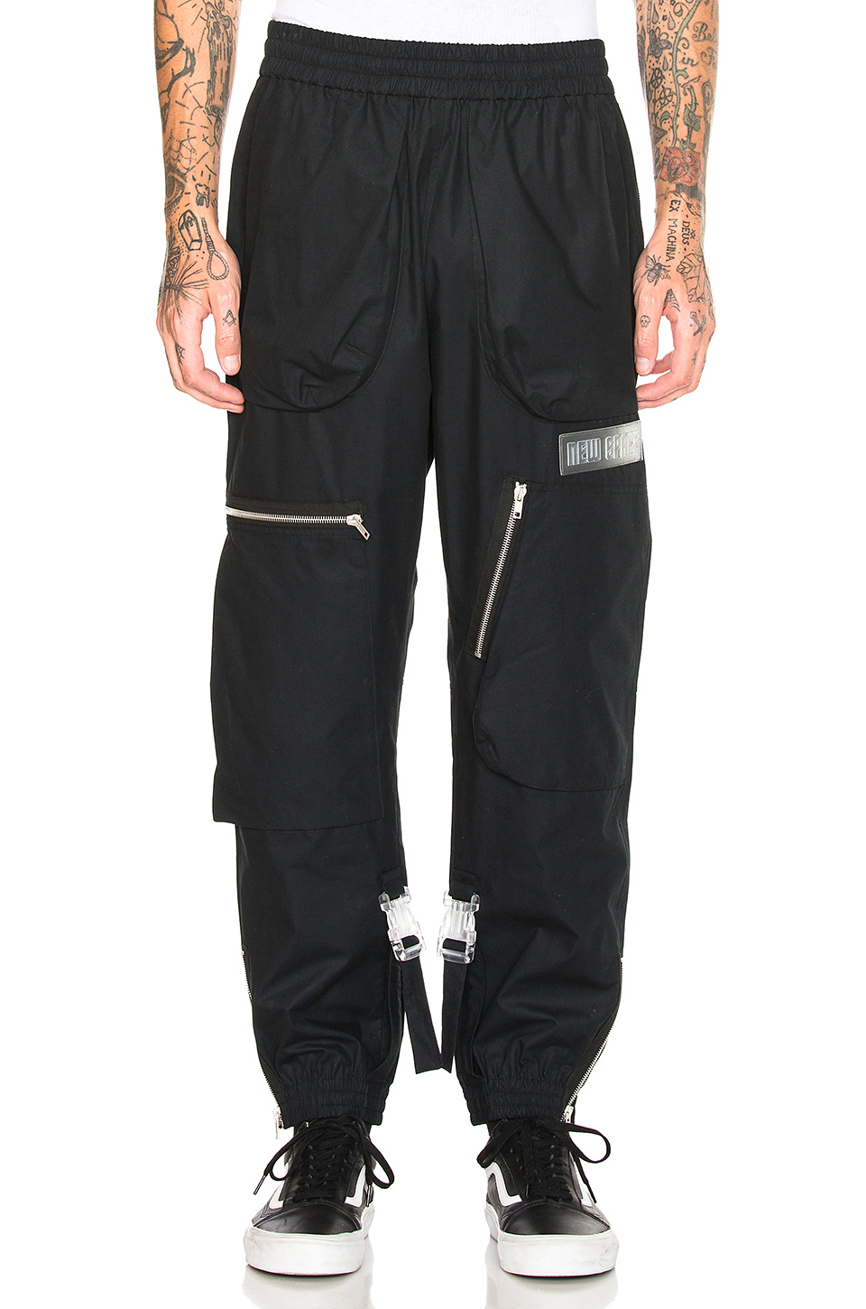 OFF-WHITE ART DAD Shuttle Track Pant in Black & Multicolor