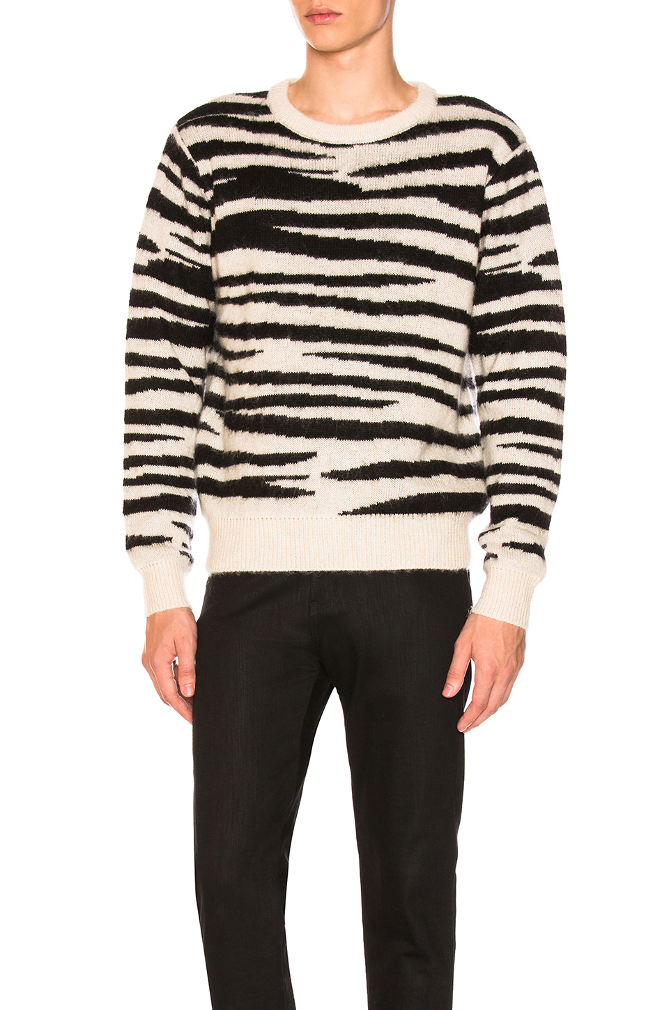 Stussy Zebra Mohair Sweater in Natural
