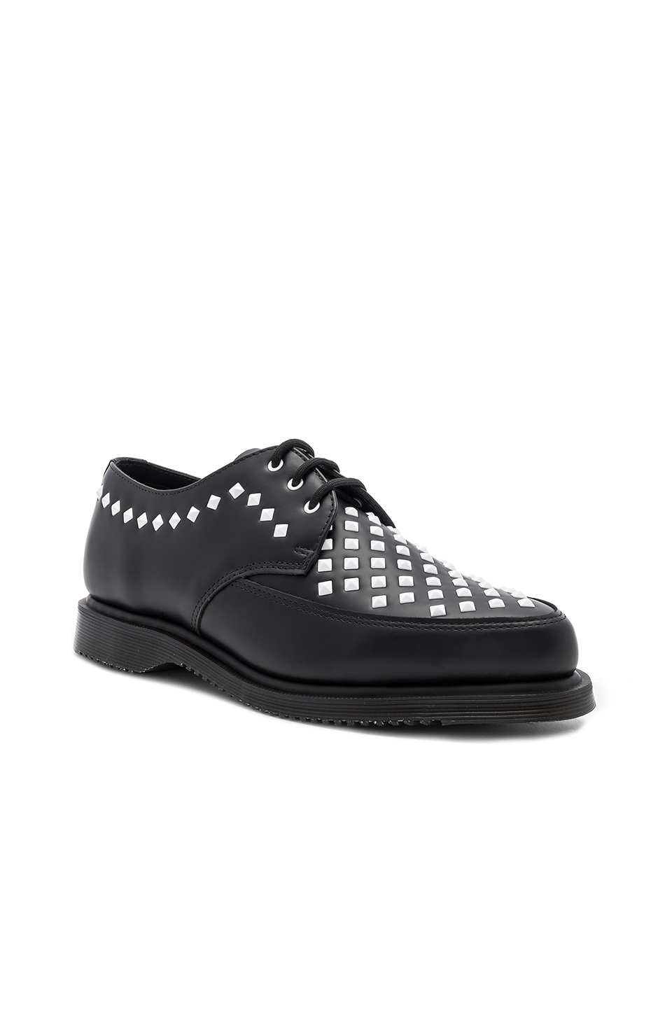 Dr. Martens Smooth Leather Rousden Stud Creepers in Black