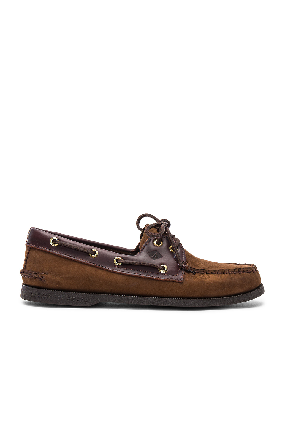 Sperry Top-Sider A/O 2-Eye in Brown & Buc Brown