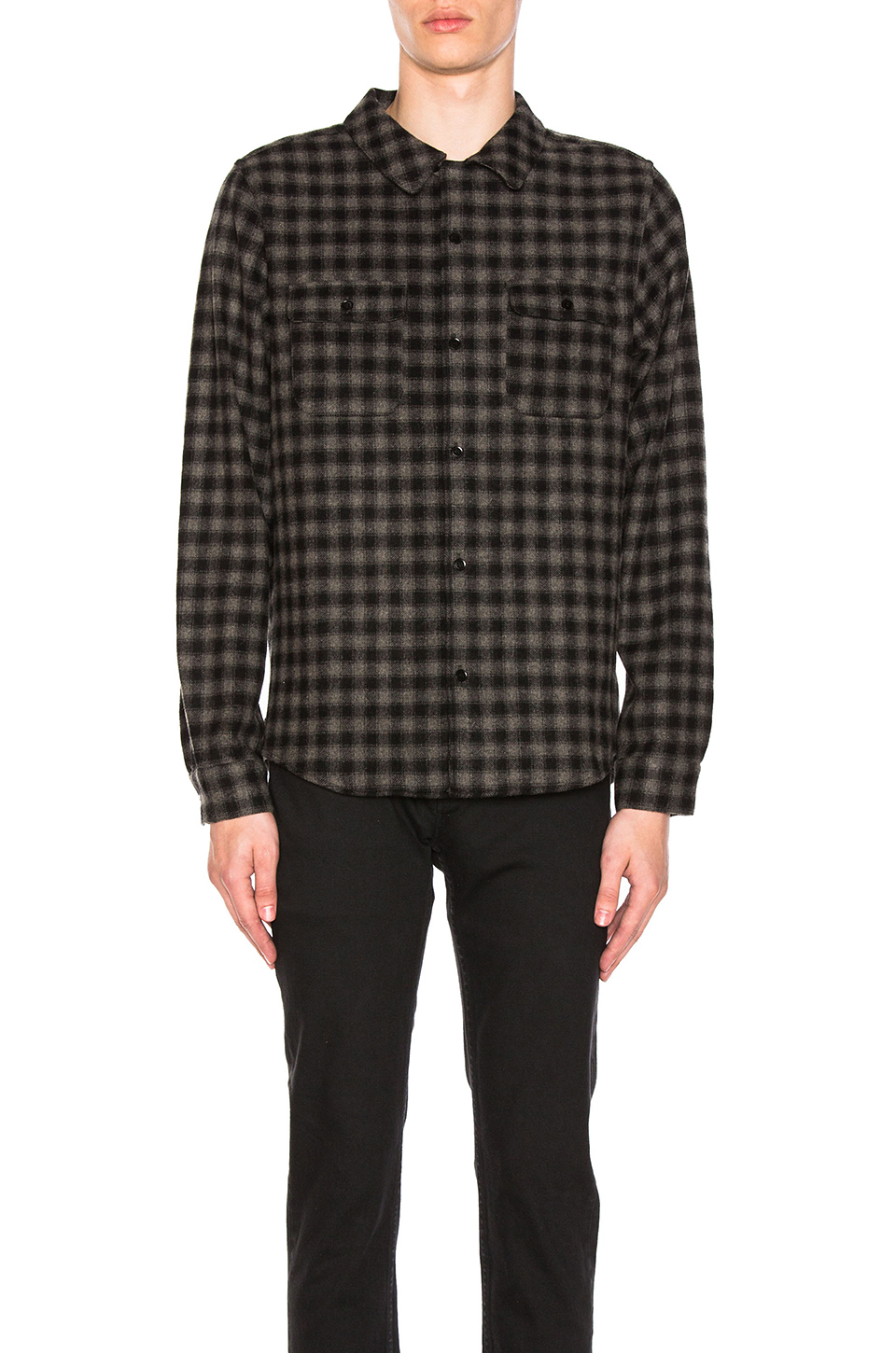 A.P.C. Flannel Shirt in Anthracite