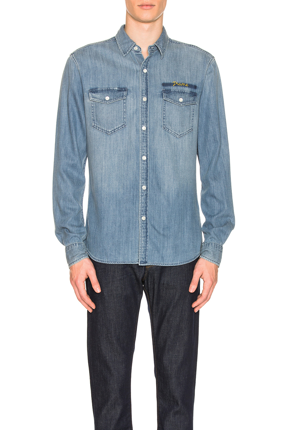 FRAME Military Denim Long Sleeve in Indigo