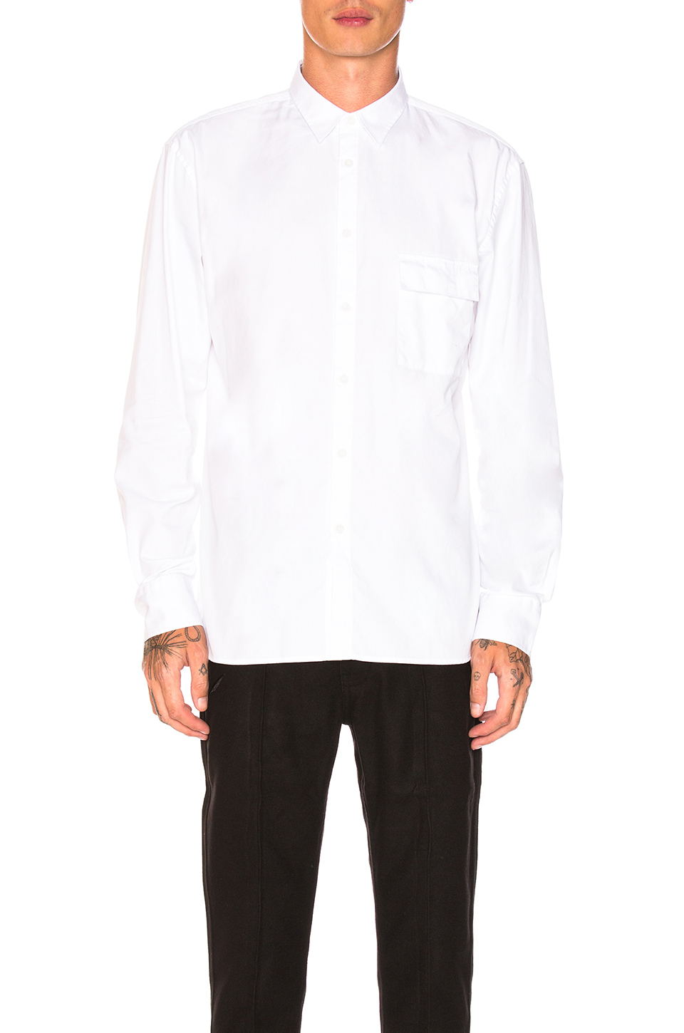 Zanerobe Box Longsleeve Shirt in White