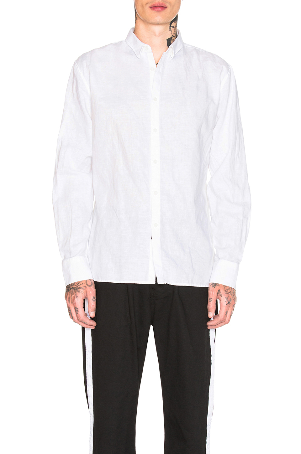 Zanerobe Linen Shirt in White