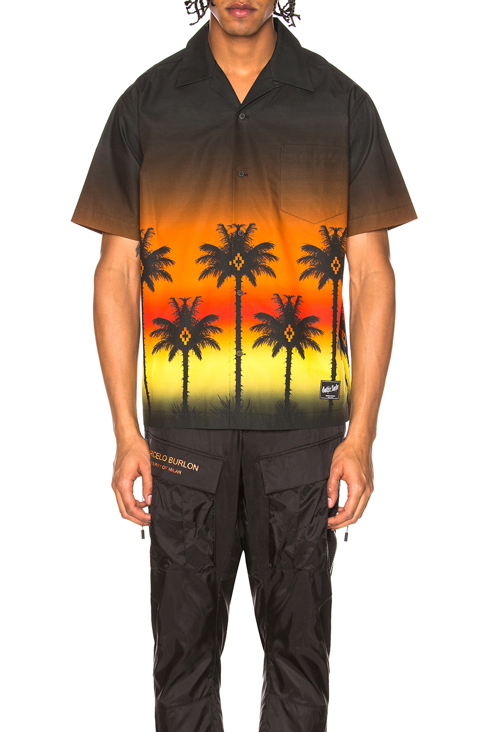 Marcelo Burlon Red Palm Shirt in Multicolor