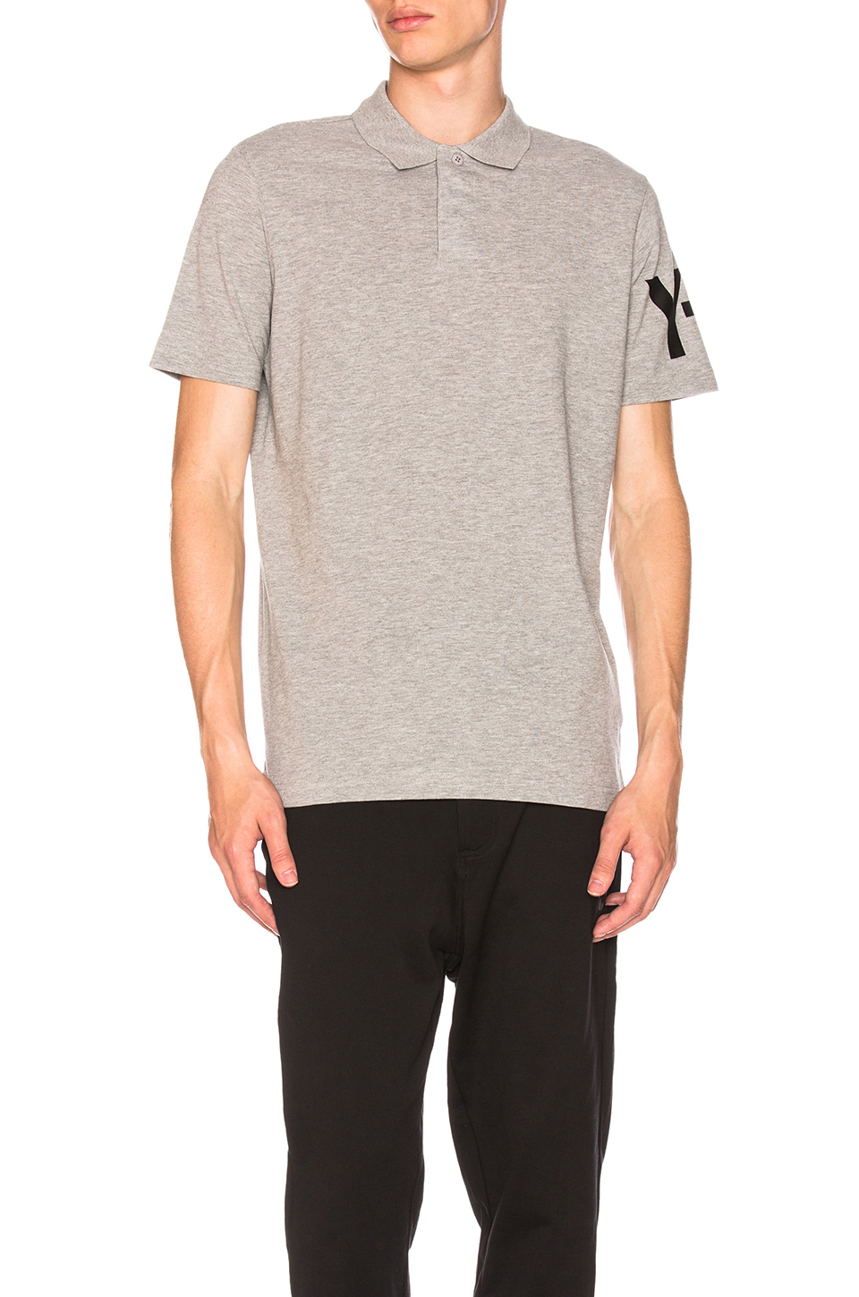 Y-3 Yohji Yamamoto CL Polo in Medium Grey Heather