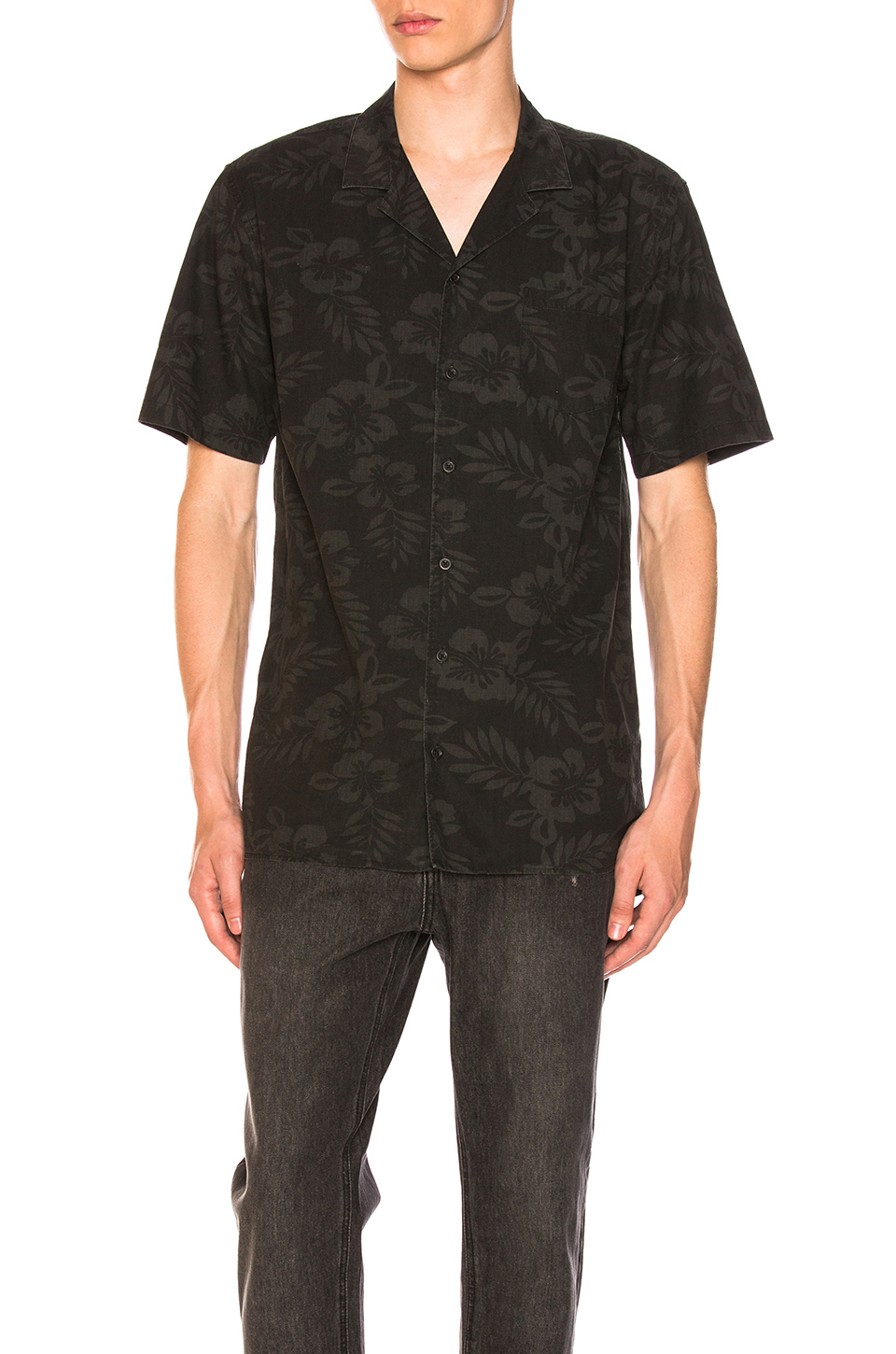 Zanerobe Camper Box Shortsleeve Shirt in Black Floral