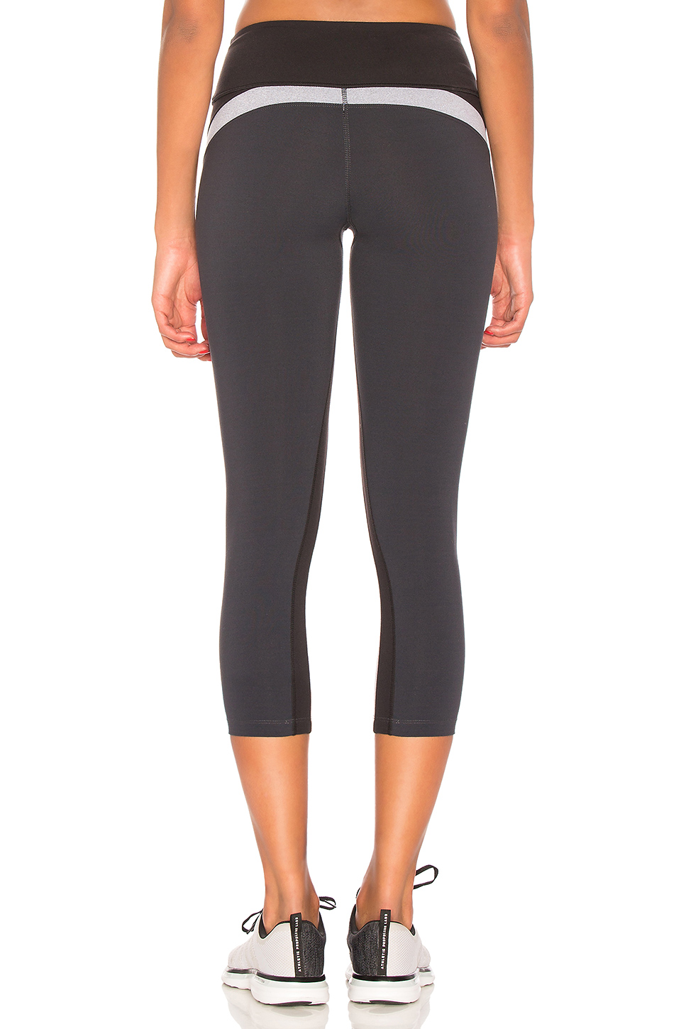 Splits59 Fuel Capri in Black, Light Heather Grey & Midnight