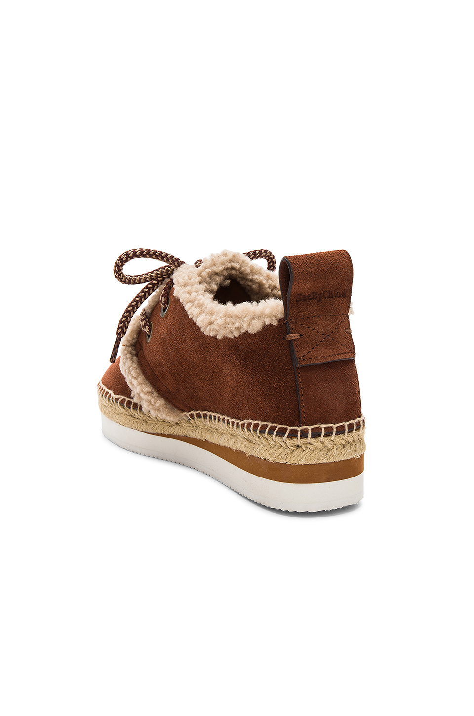 See By Chloe Glyn Espadrille in Tan & White