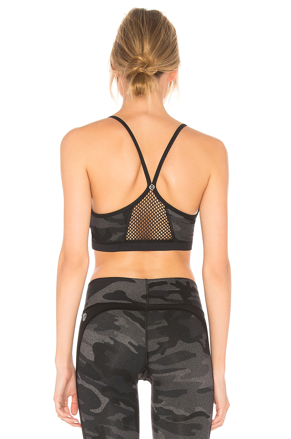 CHICHI Halle Camo Sports Bra in Charcoal